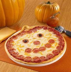 INSPIRATION - Halloween Jack-O-Lantern shaped pizzas