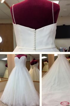 Plus Size Organza & Floral Printed Tulle Ballgown Wedding Dress with Sweetheart Neckline and Beaded Straps Bridal Dresses, Wedding Gowns, Bridal Suite, Yes To The Dress, Plus Size Wedding, Elegant Dresses, One Shoulder Wedding Dress, Ball Gowns, Naked