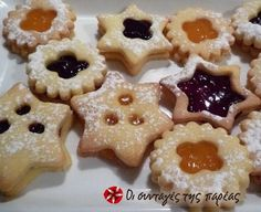 Xmas Food, Christmas Sweets, Christmas Cooking, Greek Desserts, Greek Recipes, Cranberry Cookies, Sweets Recipes, Cupcake Cookies, Animal Cupcakes
