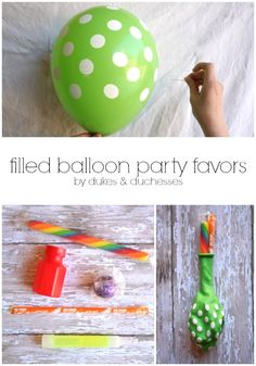 filled balloon party