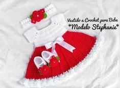 Vestido para bebé tejido a crochet