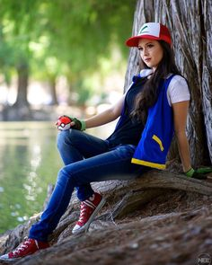 Ash Ketchum by Hendo Art (: Cycling Backpack, Bicycle Bell, Ash Ketchum, Cycling Gloves, Funny Slogans, Sports Equipment, How To Look Pretty, Retro Fashion, Celebs
