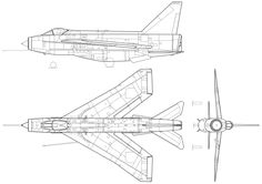 File:BAC Lightning F Mk.6 silhouette no insignia.svg