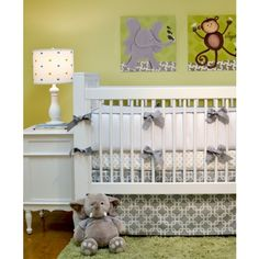 Links Crib Bedding- 3pc Set-doodlefish bedding, custom bedding, bedding,links crib bedding, modern, chevron