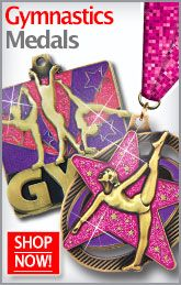 Peace, Love, & Gymnastics! These medals will be sure to have you doing back flips! http://www.crownawards.com/StoreFront/Gymnastics.ALL.Medalsqz1Dogtags.srch