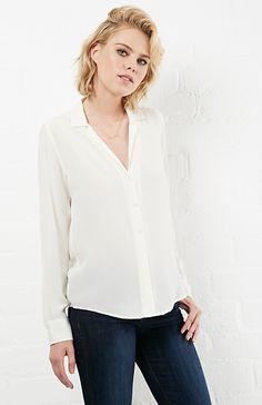 EQUIPMENT Adalyn Silk Shirt in Ivory XS - L | DAILYLOOK