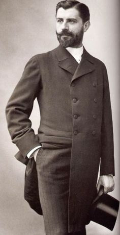 Doctor Samuel Pozzi (1846-1918) by Paul Nadar (1856-1939). This handsome surgeon was eagerly recieved in the salons of the faubourg Saint-Germain, and had many affairs. As a consequence he was referred to by some as 'Doctor Love'. He was murdered by a patient who had gone insane. (See also Sargent's imperious portrait of the same sitter.) His clothing and grooming here are  immaculate.