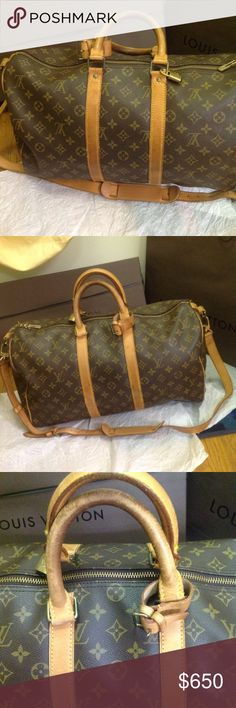 20dbc7894c731 AUTHENTIC LOUIS Vuitton K P 45 Gorgeous vintage bag for the age of the bag  still nice