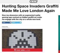 How to hunt Space Invader street art in London using an app! #streetart #graffiti #londonstreetart #london #spaceinvader #invader #invaderwashere #spaceinvaderlondon #londongraffiti #flashinvaders