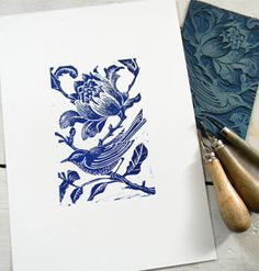 Bird Lino Cut Prints on Behance -- be sure to check out the whole collection!