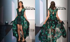 This amazing green and black dress!  Project Runway Recap: S14 E08 | The Democracy Diva