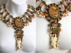 NILE QUEEN Beaded Statement Necklace Collar by CindyCaraway, $1750.00