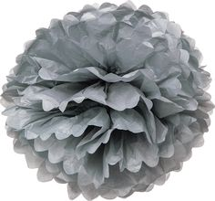 Shades of Black Tissue Paper Pom Poms