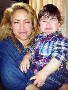 Shakira Mimics Baby Milan's Crying Face—See the Pic!  Shakira, Milan, Instagram