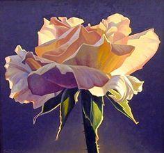 Art Ed Mell - Dusk Rose- Litho fine-art-florals Art Floral, Watercolor Flowers, Watercolor Paintings, Watercolours, Floral Paintings, Art And Illustration, Rose Art, Botanical Art, Beautiful Paintings