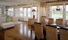Inspiration on the horizon: Coastal cottage decor House Design, Home, Coastal Interiors, House Inspiration, House Interior, Cottage Dining Rooms, Interior Design, Coastal Interiors Design, Great Rooms