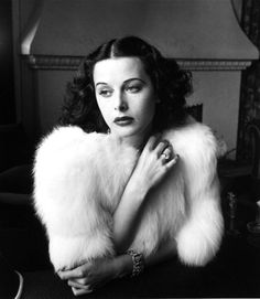 Hedy Lamarr in a stunning fur, 1940s