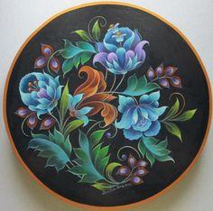 Blue Folk Art (Maureen McNaughton design?):