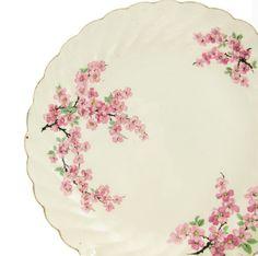 Cherry Blossom Plate Vintage 22K Gold by BrownEyedRoseVintage, $15.00