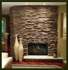 Cultured Stone Fireplaces | ... Stone using Owens Corning Cultured Stone ® – Carolina Ledgestone