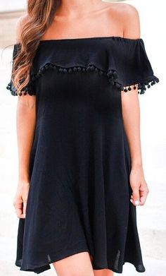 Perfect black dress for summer. #LBD