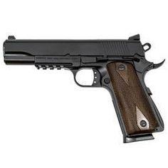 "Girsan MC1911S-G2 Sport Semi Automatic Pistol .45 ACP 5"" Cold Forged Barrel 8 Rounds Checkered Walnut Grips Black Finish with Rail MC1911S-G..."