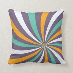 Sophisticated Dusty Purple Lollipop Swirl Throw Pillow