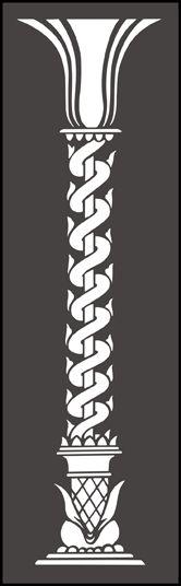 Architecture Column stencils, stensils and stencles