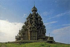 Kizhi (Russia). 'Old buildings made from logs may not usually be synonymous with 'heartstopping excitement', but Kizhi's collection of wooden masterpieces is enough to spike the blood pressure. The first glimpse of the heavenly Transfiguration Church, viewed from the approaching hydrofoil, causes such a ripple. Legend has it that the unnamed builder destroyed his axe upon its completion.' http://www.lonelyplanet.com/russia/northern-european-russia/kizhi