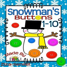 This 47-page Winter Math Pack (PDF File) contains counting activities, such as ten frames mats, counting and tracing, blank ten frames, connecting, and coloring worksheets. This is perfect for your Math Centers and Hands-On Learning Activities. There are different activities for each skill to fulfill learning Early Math. CHECK THE PREVIEW! :)