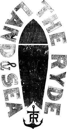 Illustrations : MattAllen.com - Land & Sea The Ryde - Surfboard & Anchor