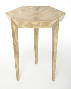 Tolux Hexagonal Side Table in Unbleached Parchment