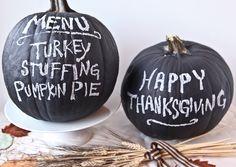 How to Make Chalkboard Pumpkins