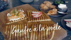 Gaufre à la poêle Quebec, Brunch, Healthy Breakfasts, Eating Healthy, Smoothies, Foodies, Vegetarian, Cheese, Desserts