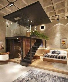 Bachelor pad loft [991 x 1200] http://ift.tt/2c1bn7x