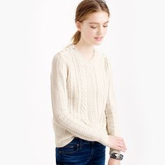 Perfect cable sweater : Pullovers | J.Crew