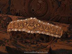 Gold Temple Jewellery Vadanam Designs, Gold Temple Vadanam Models, Indian Gold Temple Jewellery Designs.