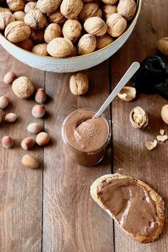 nutella domowa przepis Nutella, Mani, Herbalism, Almond, Cereal, Healthy Recipes, Healthy Food, Food And Drink, Diet