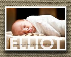 photo birth announcement baby boy or baby girl - big deal.. $15.00, via Etsy.