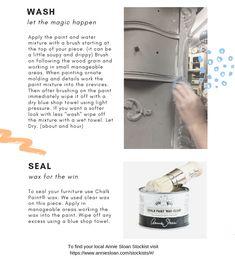 Step by Step Color Wash Technique – Bird's Nest Gifts & Antiques Annie Sloan Chalk Paint Tutorial, Annie Sloan Chalk Paint Furniture, Diy Chalk Paint Recipe, Chalk Paint Finishes, Homemade Chalk Paint, Chalk Paint Colors, Annie Sloan Paints, White Chalk Paint, Chalk Painting