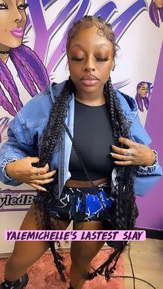 Big Box Braids Hairstyles, Lemonade Braids Hairstyles, Hair Ponytail Styles, Braids Hairstyles Pictures, Black Girl Braids, Braided Hairstyles For Black Women, Baddie Hairstyles, Braids For Black Women, Braids For Black Hair