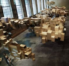 """Cardboard Cloud"", an exhibit design by Fantastic Norw"