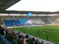 MDCC Arena, Nachfolger der Ernst-Grube-Stadions in Magdeburg; u.a. beim Spiel des 1. FC Magdeburg gegen den FC Carl Zeiss Jena am 24. April 2013