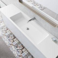 lavabo a medida para mueble baño METRO XXL Solid Surface, Bathtub, Indoor, Bathroom, House, Counter Tops, Elegant, Furniture, Standing Bath