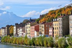 River Isere in Grenoble, Rhone-Alpes, France