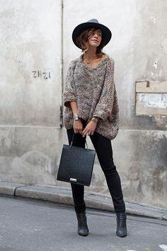 Cozy Fall Outfit[[MORE]]Chapeau Herman Headwear, Pull Zara // Sac Zara, Jean Monki, Collier My Guru, Boots Acneashion By Les Babioles  De Zoe