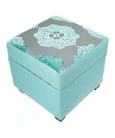 Look at this #zulilyfind! Teal Midori Storage Ottoman by Loni M. #zulilyfinds