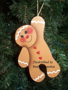 cute gingerbread man ornament - could also work as a card