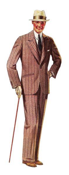 Roaring Twenties Men's Hats | 1927 mens pink striped suit