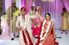 Richa & Mrunal's wedding was romantic and elegant, yet festive and fun. Indian Wedding Ceremony, Ballroom Wedding, Pearl River, Real Weddings, Sari, Glamour, Romantic, Bride, Elegant